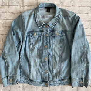 Lane Bryant Denim Button Up Jean Jacket Plus Size